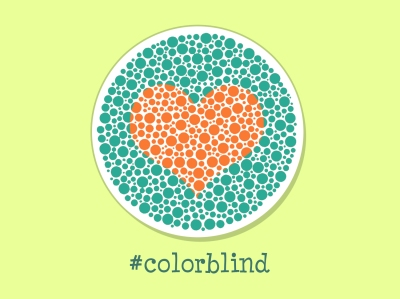 Heart in Ishihara color blind test plate, #colorblind